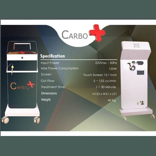 Carboxytherapy, carbon dioxide injection in carbo plus beauty medicine